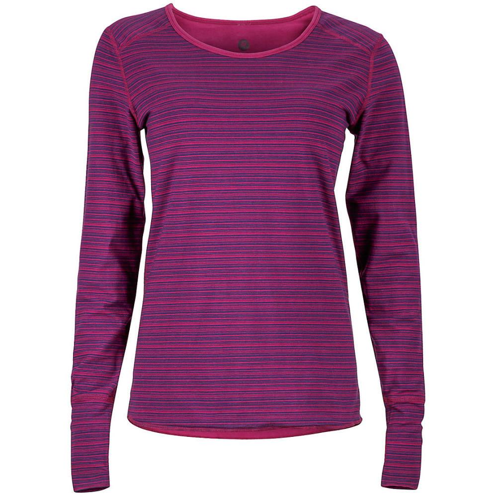 MARMOT Women's Hannah Reversible Knit Long-Sleeve Shirt - 6400-MAGENTA
