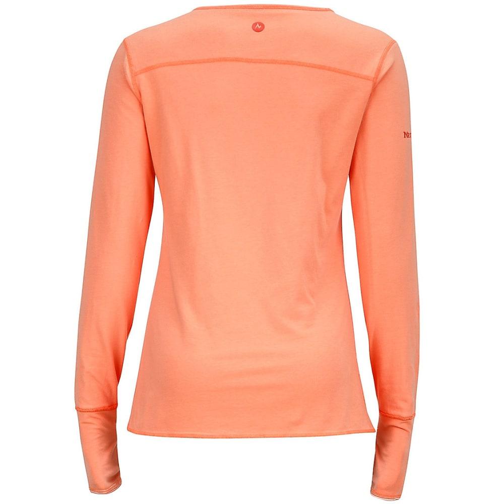 MARMOT Women's Hannah Reversible Knit Long-Sleeve Shirt - 6816-CORAL
