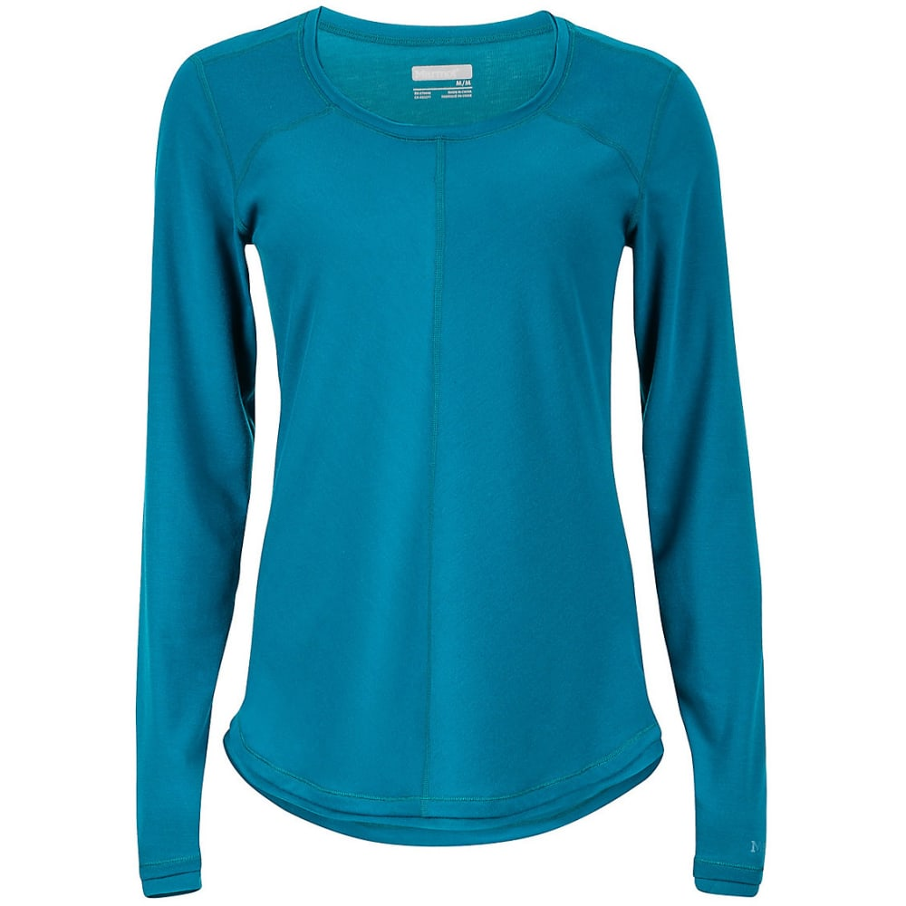 MARMOT Women's Molly Long-Sleeve Tee - 4641-EVERGLADE