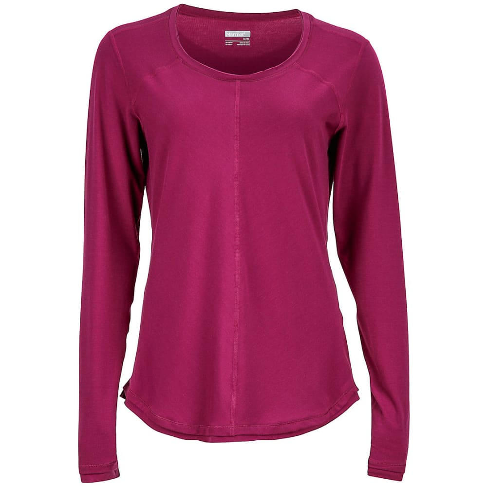 MARMOT Women's Molly Long-Sleeve Tee - 6400-MAGENTA