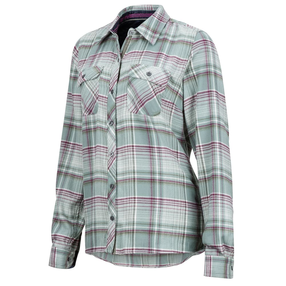MARMOT Women's Bridget Flannel Shirt - 3803-SEA FOG