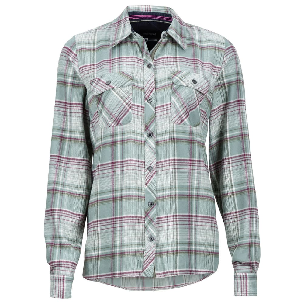 MARMOT Women's Bridget Flannel Shirt - 3803-SEA FOG