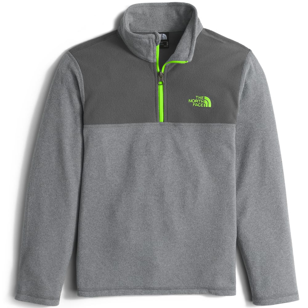 THE NORTH FACE Boys' Glacier  ¼ Zip Pullover - DYY-TNF MED GRY H