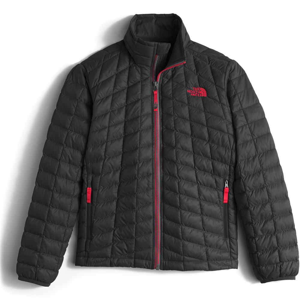 THE NORTH FACE Boys' Thermoball Full-Zip Jacket - KX9-TNF BLK/TNF RED