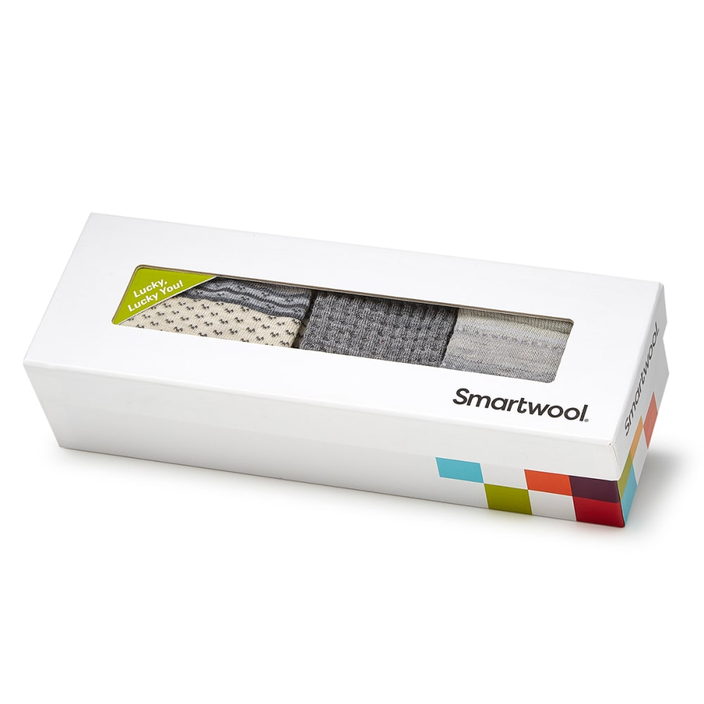SMARTWOOL Women's Trio Sock Gift Set, Grey - LIGHT GREY HTR-883