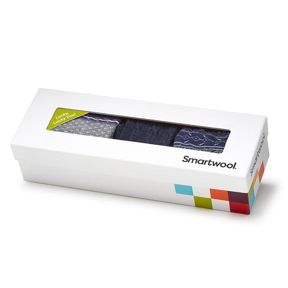 SMARTWOOL Women's Trio Sock Gift Set, Blue - INK HEATHER-110
