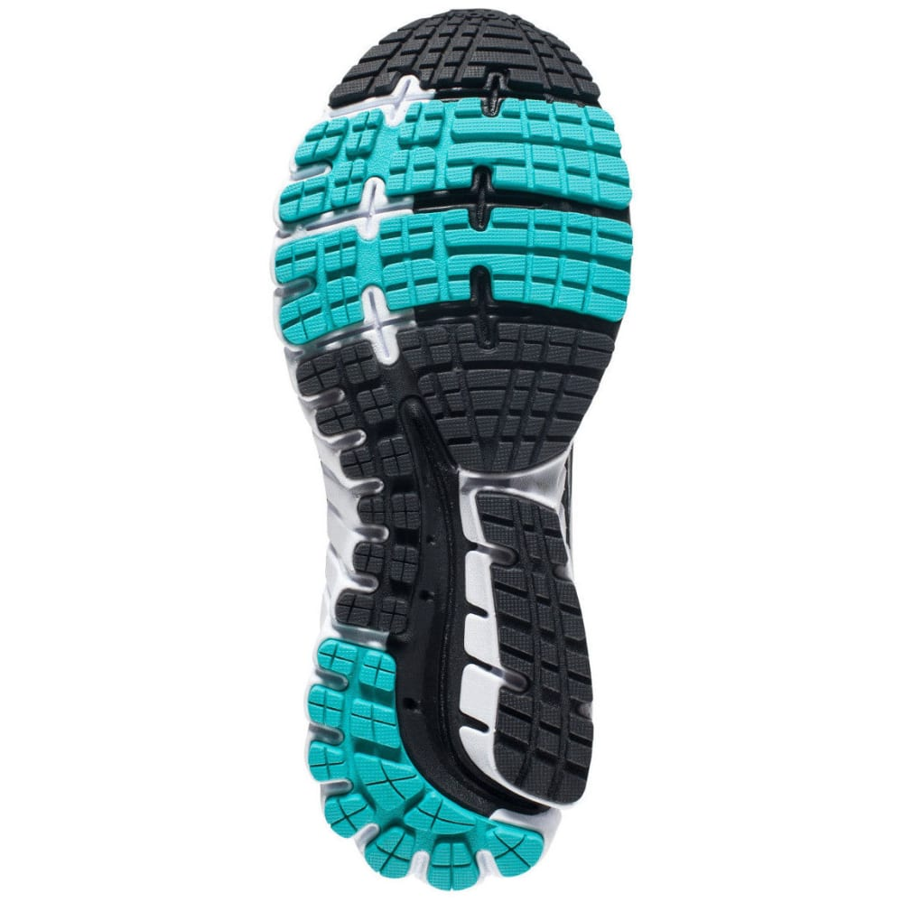 BROOKS Women's Ghost 9 Running Shoes, Black/Sparkling Grape - BLK/SPRKLNG GRP/CRMC