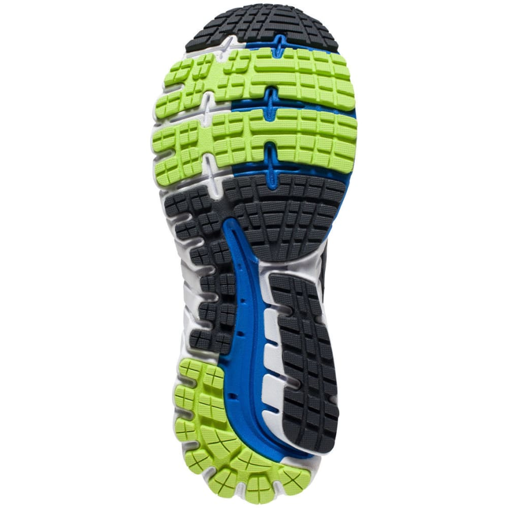 BROOKS Men's Ghost 9 Running Shoes, Anthracite/Electric Blue/Lime - ANTHRACITE