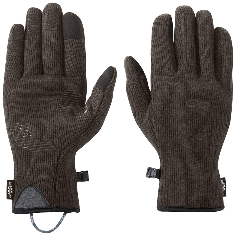 OUTDOOR RESEARCH Men's Flurry Sensor Gloves - 1573-GRIZZLY BROWN