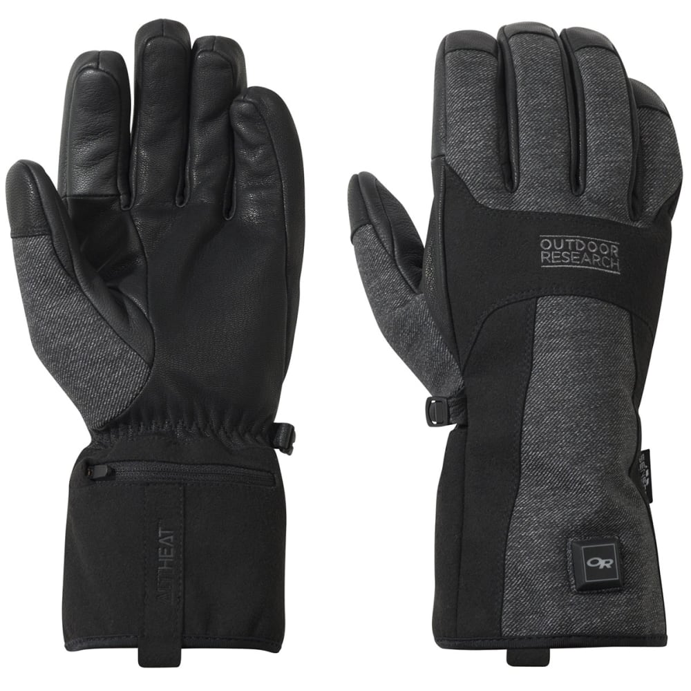 OUTDOOR RESEARCH Oberland Heated Gloves, Black/Charcoal - BLACK/CHARCOAL-0189