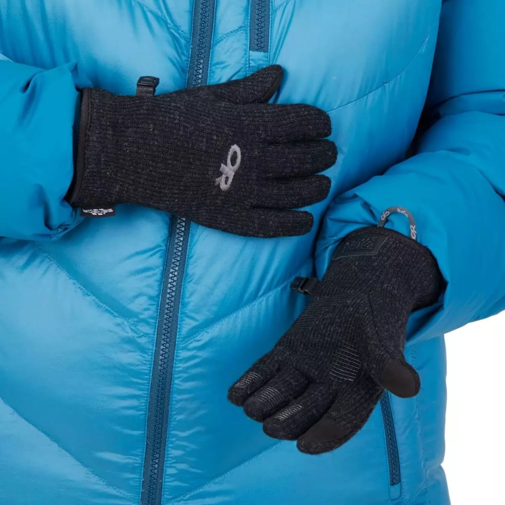 OUTDOOR RESEARCH Kids' Flurry Sensor Gloves - BLACK-0001