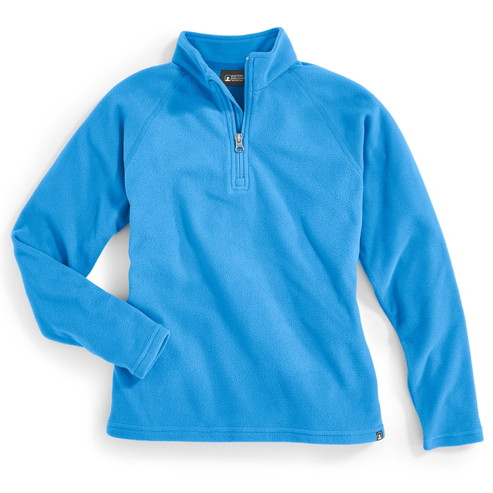 EMS® Girls' Classic Micro Fleece 1/4 Zip Hoodie - DAZZLING BLUE