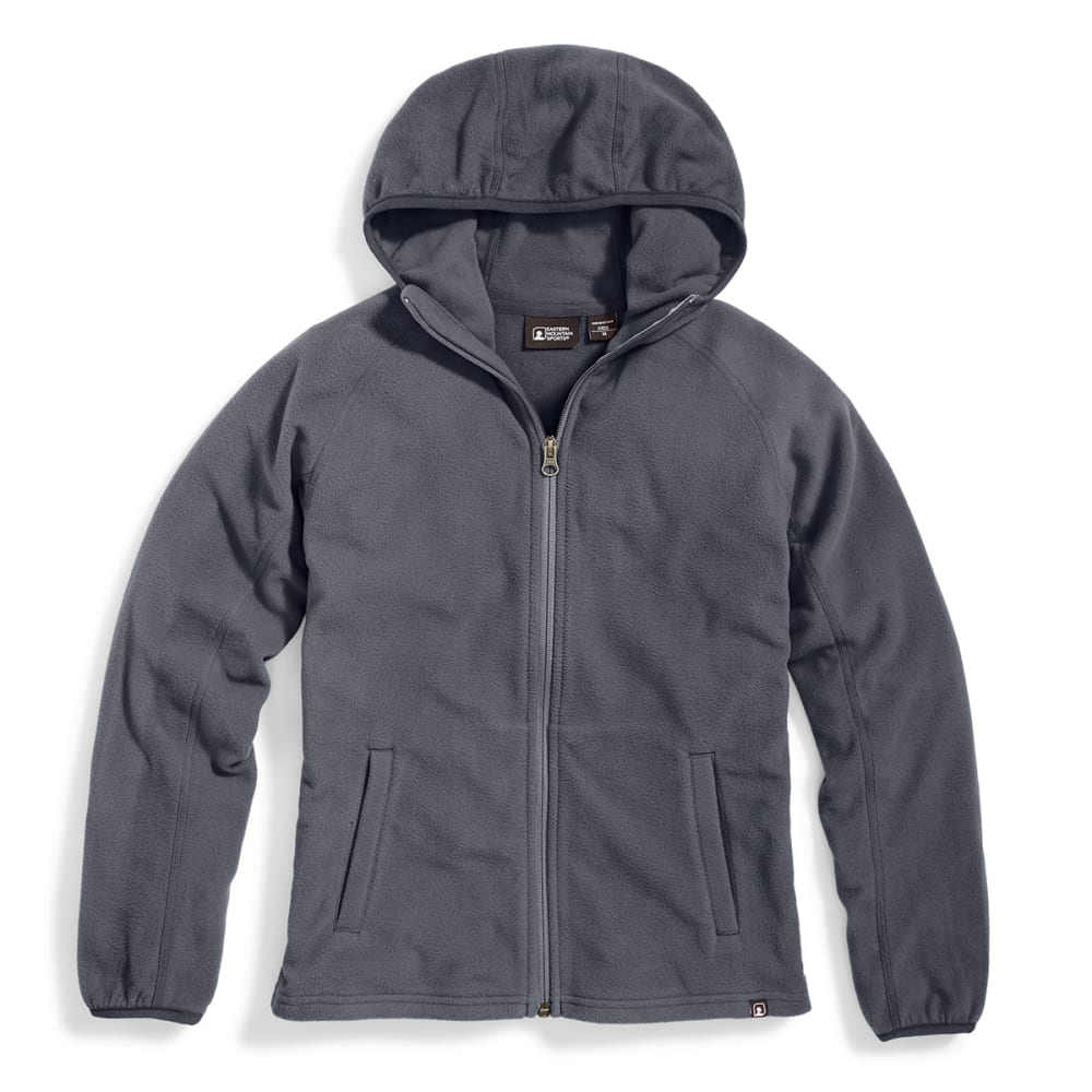 EMS® Girls' Classic Micro Fleece Hoodie - CHARCOAL HTR