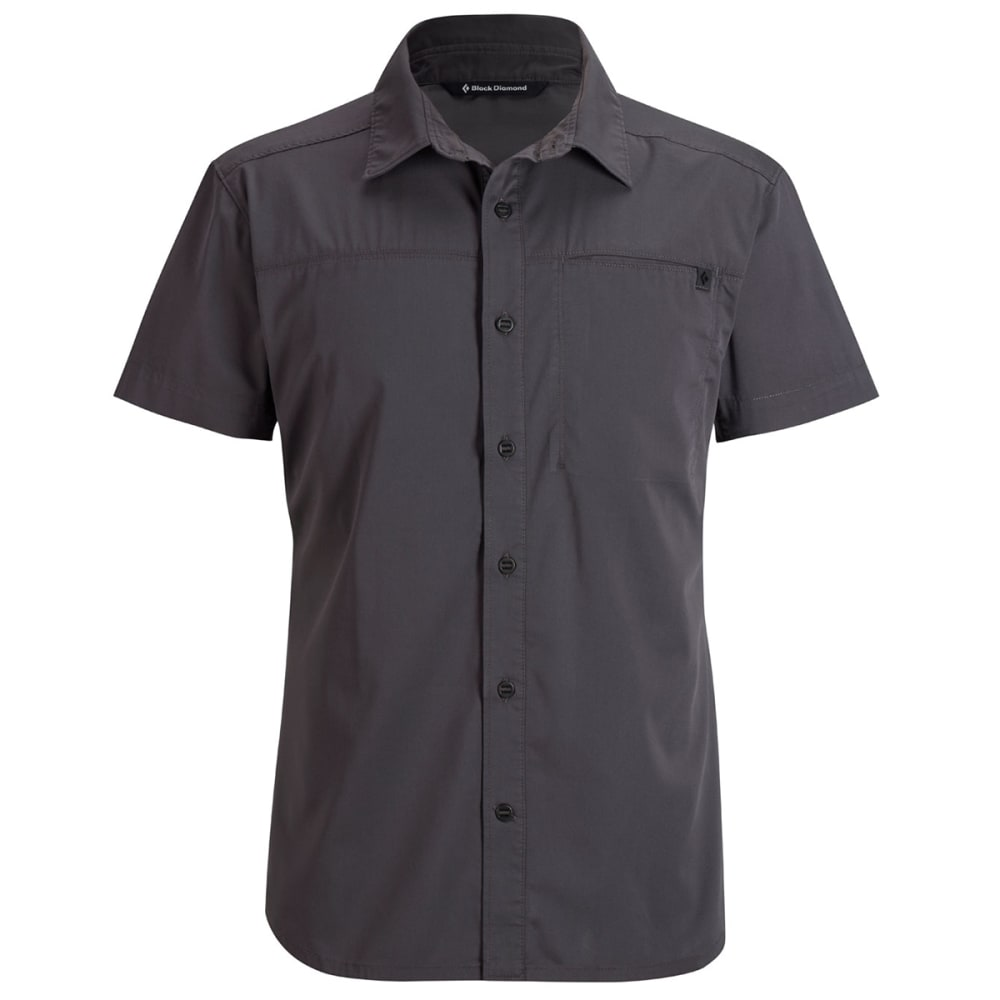 BLACK DIAMOND Men's Short-Sleeve Stretch Operator Shirt - SLATE