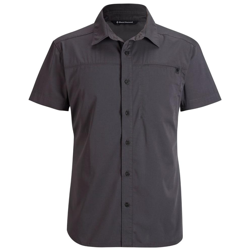 BLACK DIAMOND Men's Short-Sleeve Stretch Operator Shirt - SLATE