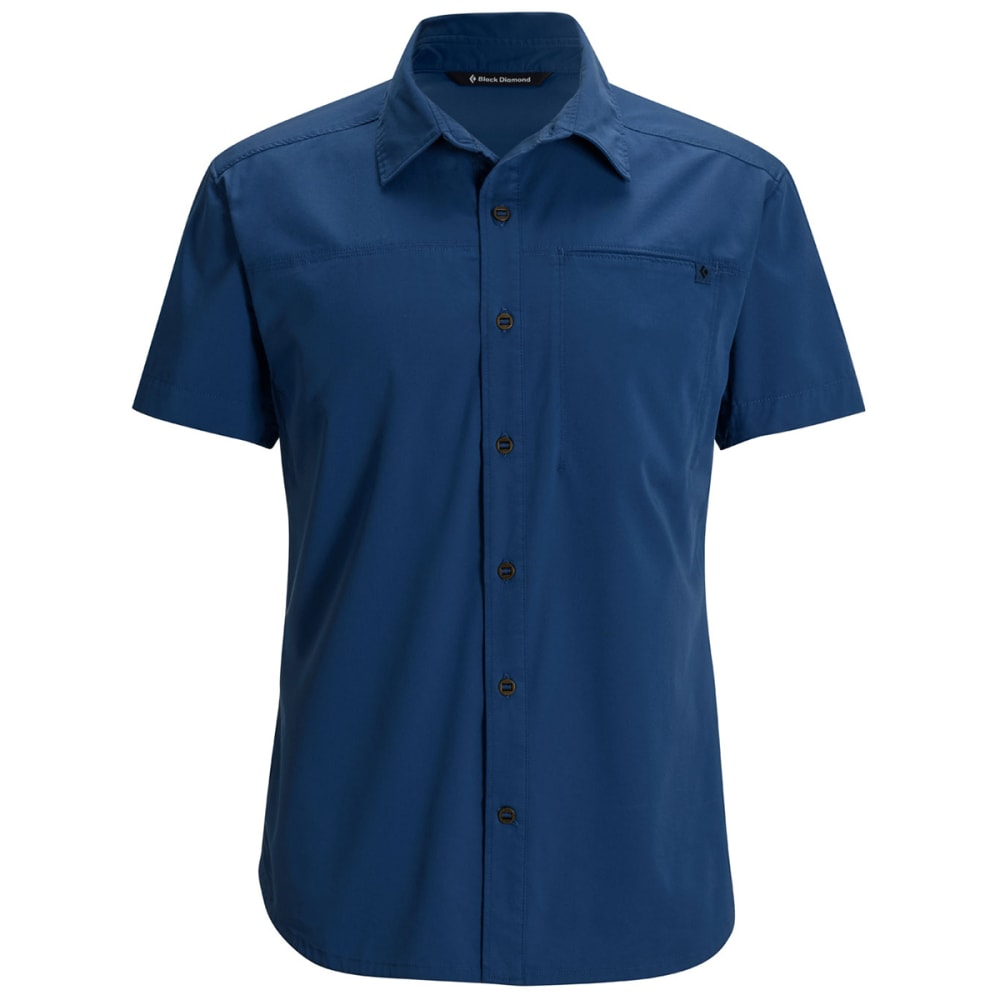 BLACK DIAMOND Men's Short-Sleeve Stretch Operator Shirt - DENIM