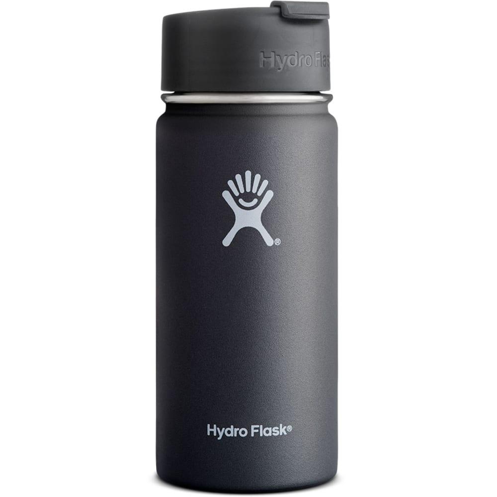 HYDRO FLASK 16 oz. Wide Flip Lip Water Bottle, Black - BLACK