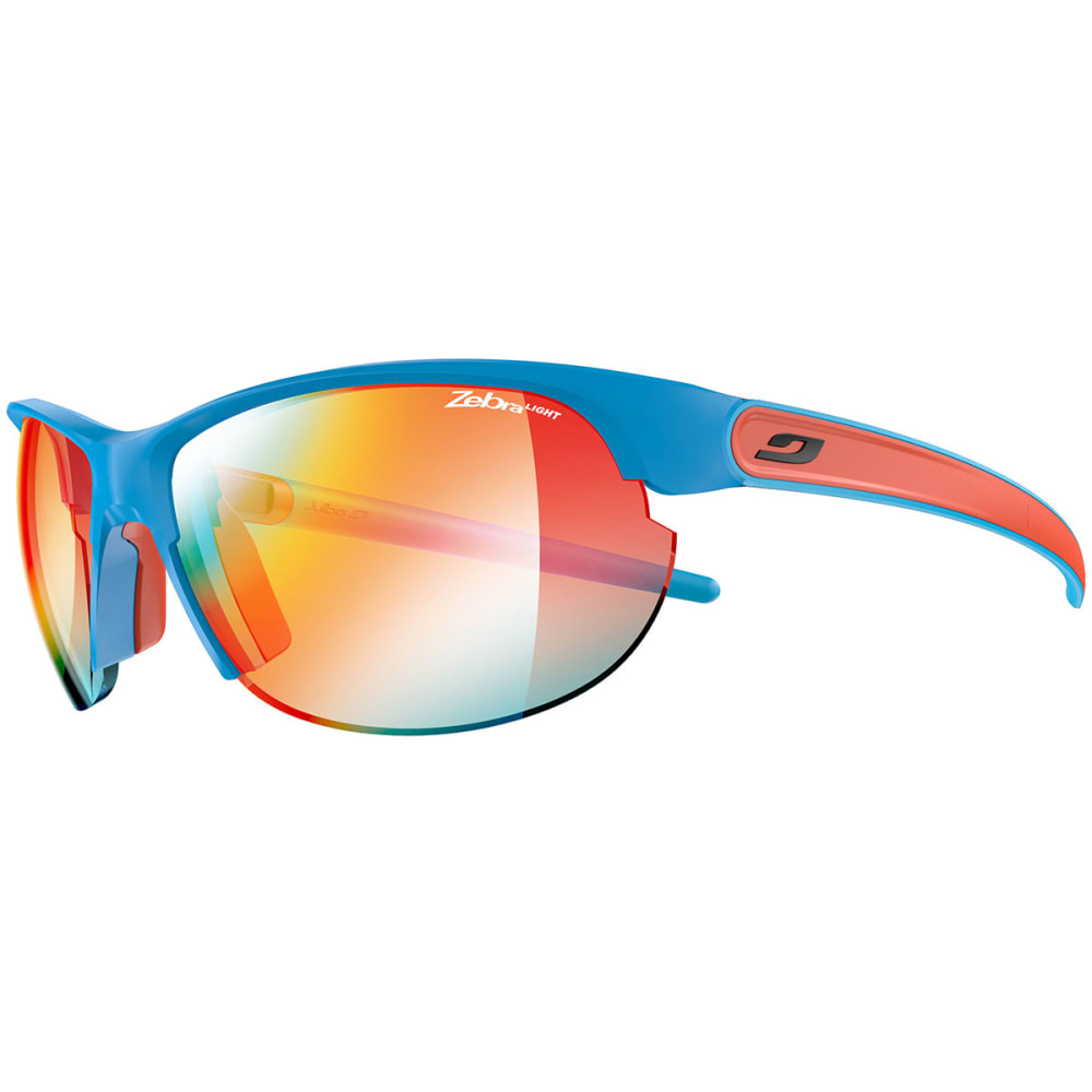 JULBO Women's Breeze Zebra Light Sunglasses - MATTE BLUE/CORAL