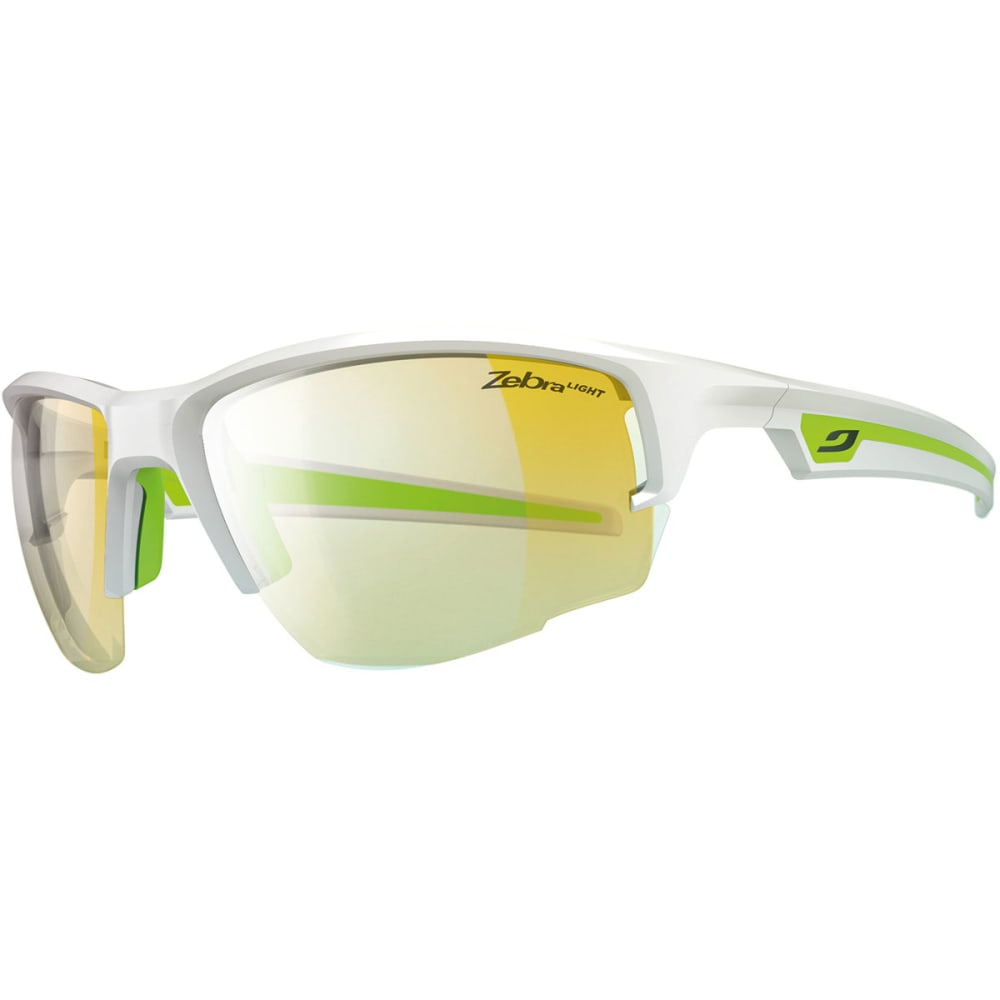 JULBO Venturi Zebra Light Sunglasses, White/Green - SHINY WHITE/GREEN