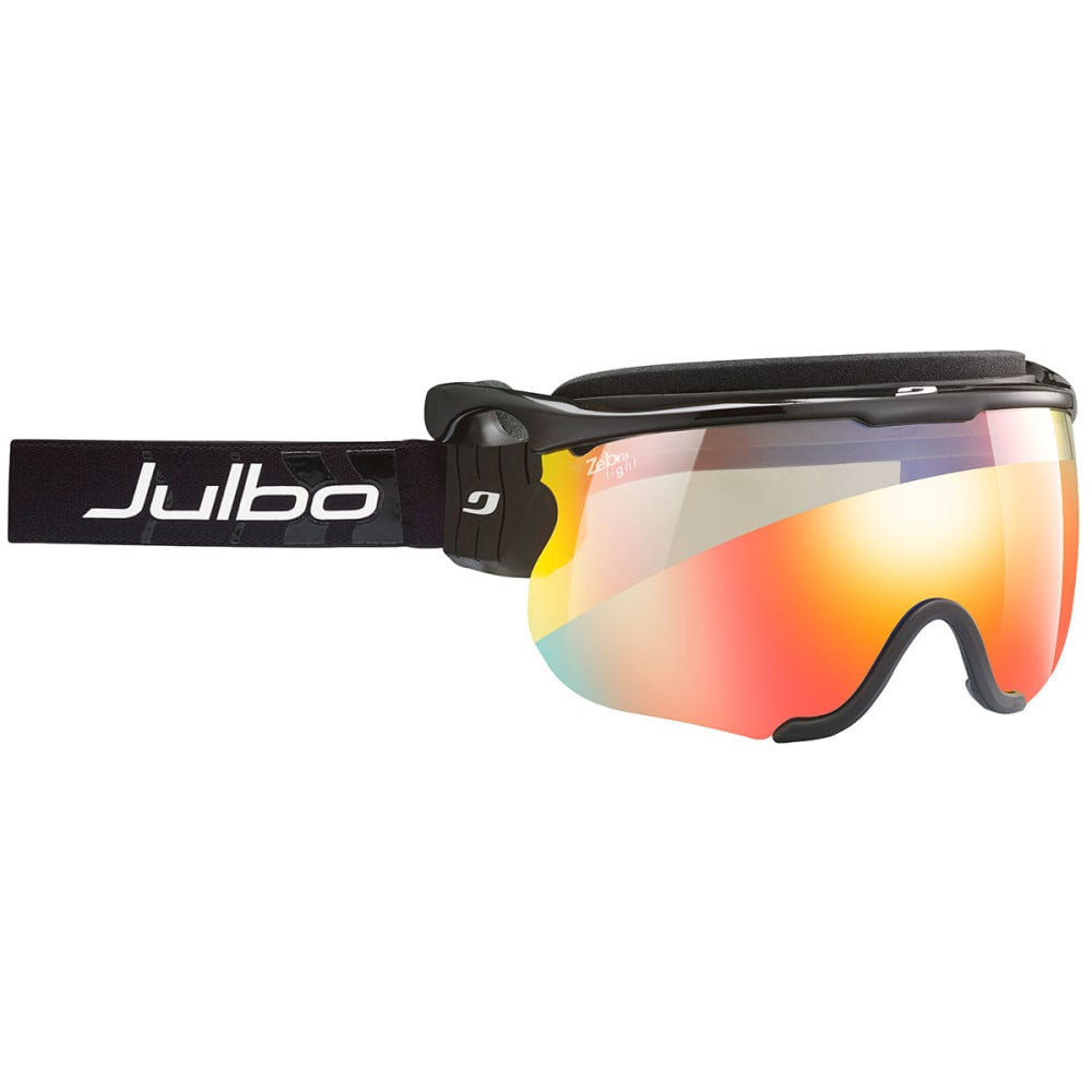 JULBO Sniper L Goggles with Zebra Light Lens, Black - BLACK/BLACK