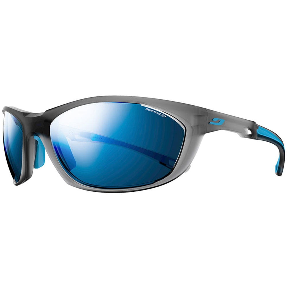 JULBO Race 2.0 Polarized Sunglasses, Matte Gray/Blue - MATTE GRAY/BLUE