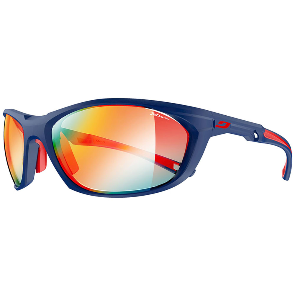 JULBO Race 2.0 Zebra Sunglasses - MATTE BLUE/RED