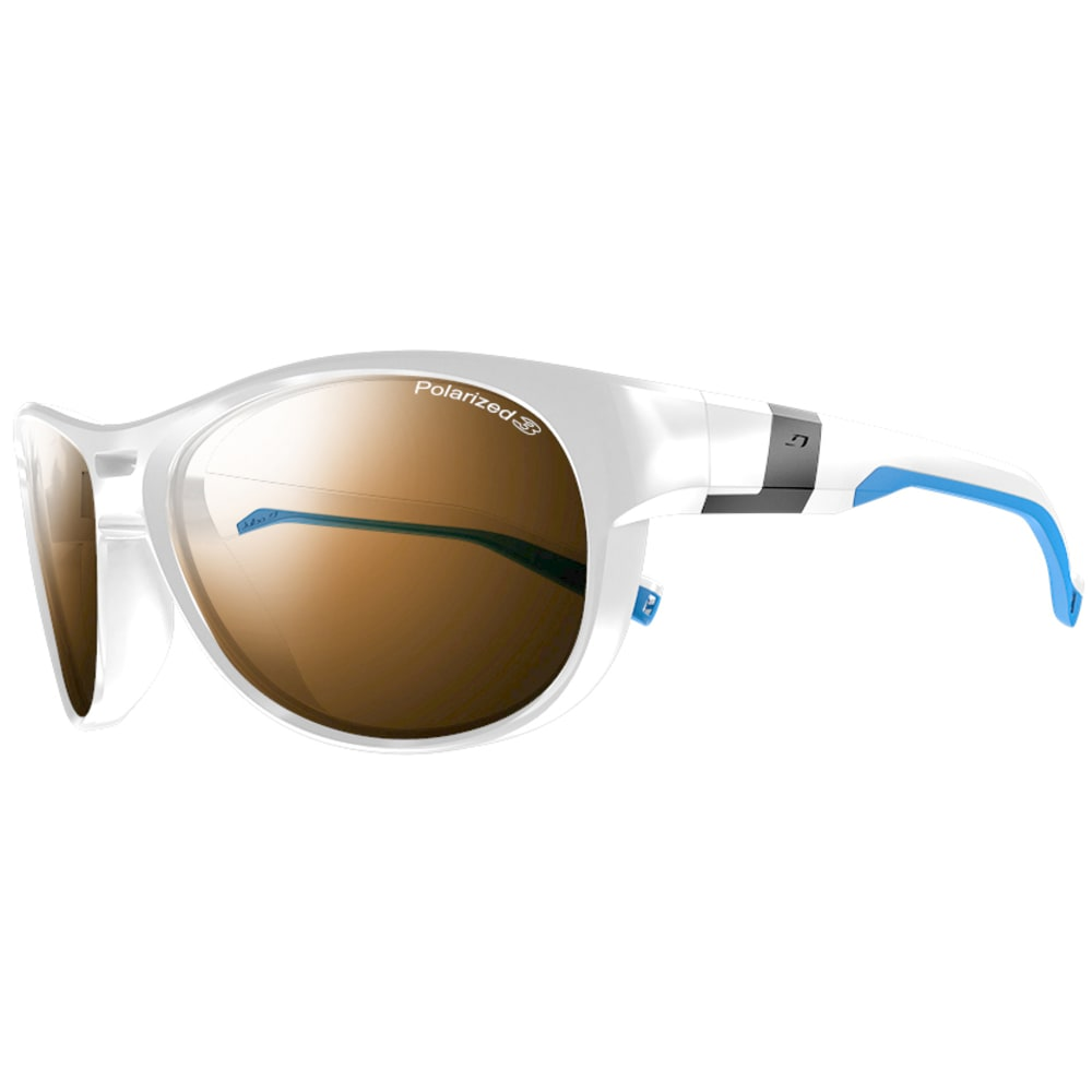 JULBO Shore Polarized Sunglasses - SHINY WHITE/LIGHT BL