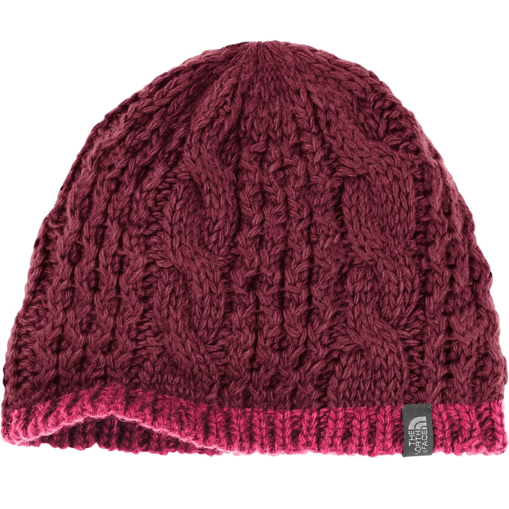 THE NORTH FACE Women's Cable Minna Beanie - HBM-DEEP GARNET RED