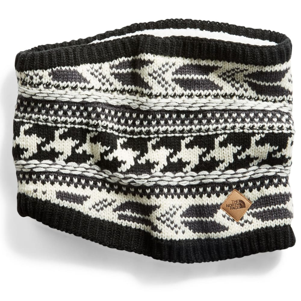 THE NORTH FACE Women's Chunky Tube Scarf - BLACK/WHITE-7VY