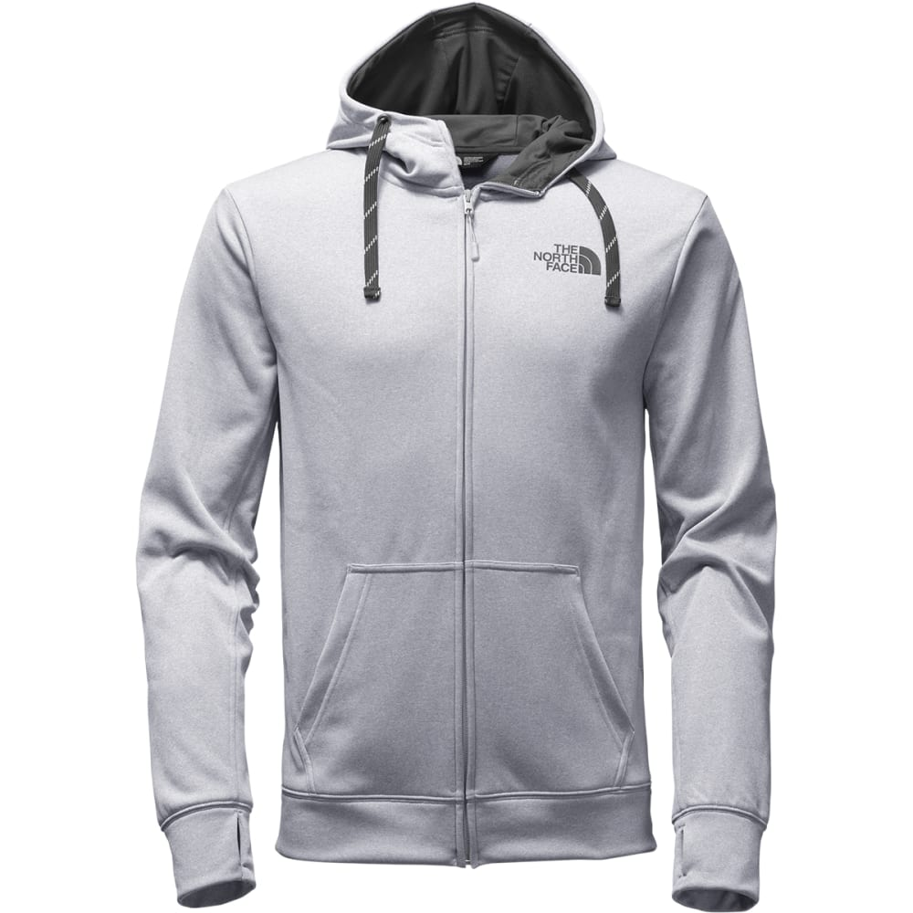 THE NORTH FACE Men's Surgent LFC Full Zip Hoodie - MGN-TNF LT GRY HEATH