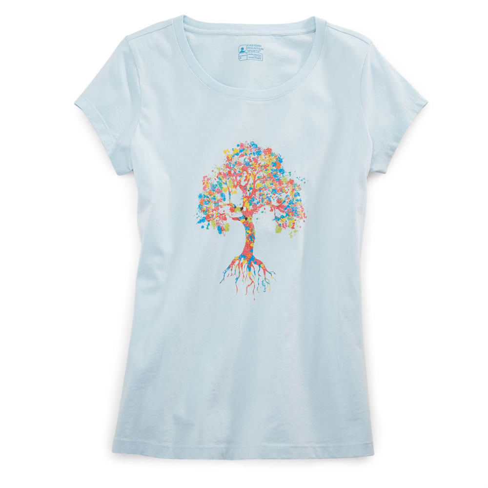 EMS® Women's Paint Tree Graphic Tee - COOL BLUE