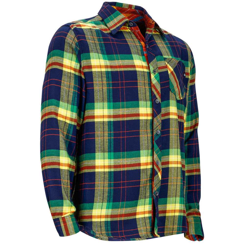 MARMOT Men's Anderson Flannel Long-Sleeve Shirt - 2975-ARCTIC NVY