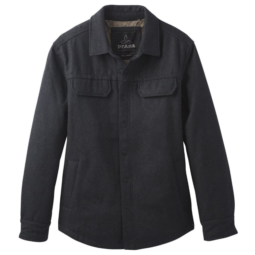 PRANA Men's Wooley Jacket - BLACK HEATHER