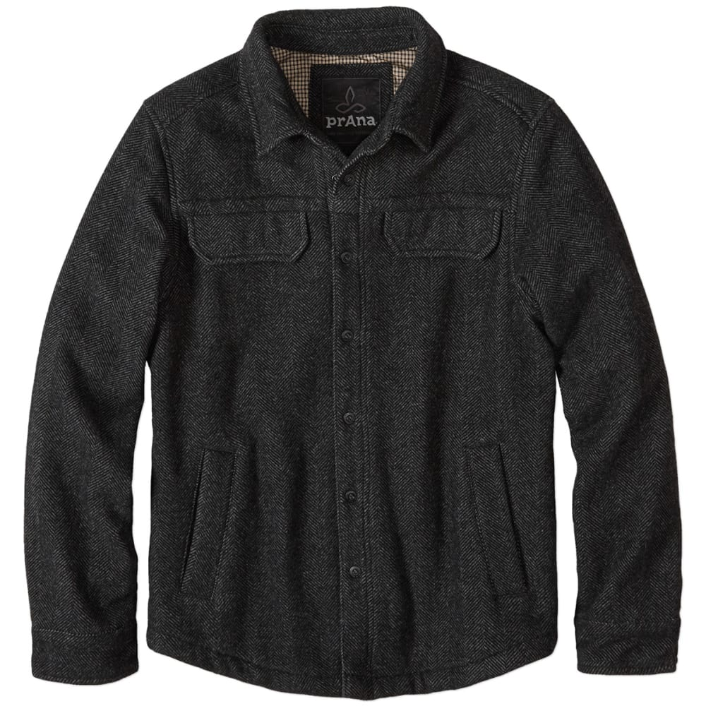 PRANA Men's Wooley Jacket - CHARCAOL TWEED