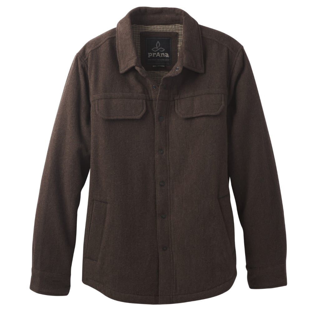 PRANA Men's Wooley Jacket - COFFEE BEAN HEATHER