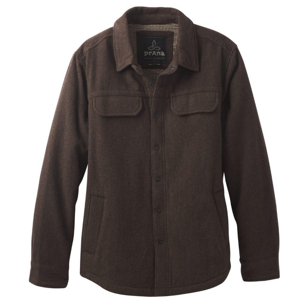 PRANA Men's Wooley Jacket - COFFEE BEAN HEATHER