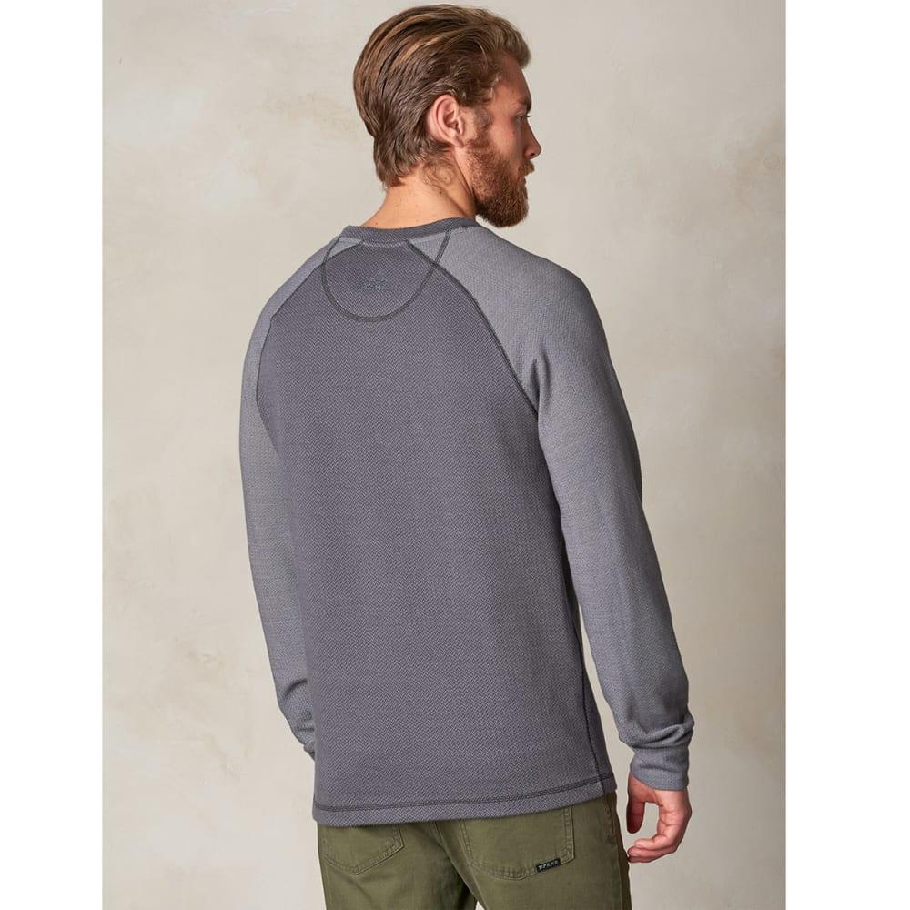 PRANA Men's Drifter Crewneck Long-Sleeve Shirt - BLACK