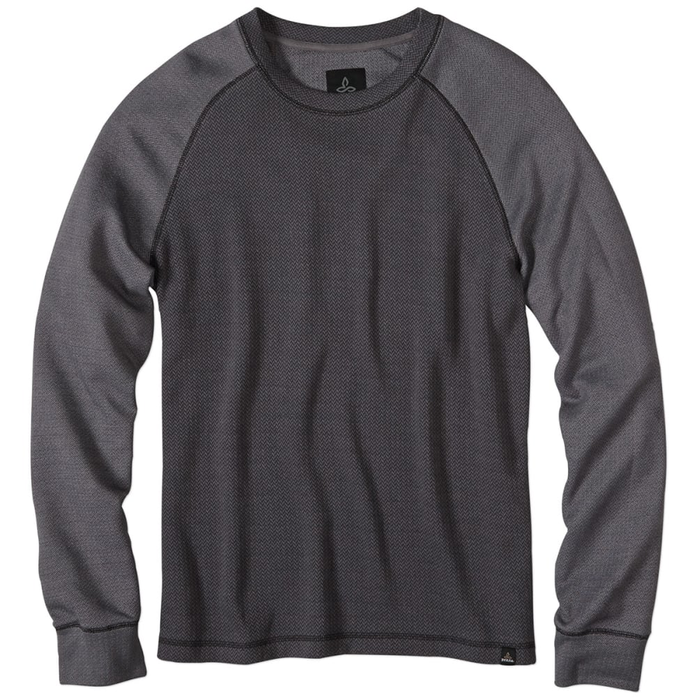 PRANA Men's Drifter Crewneck Long-Sleeve Shirt - BLACK