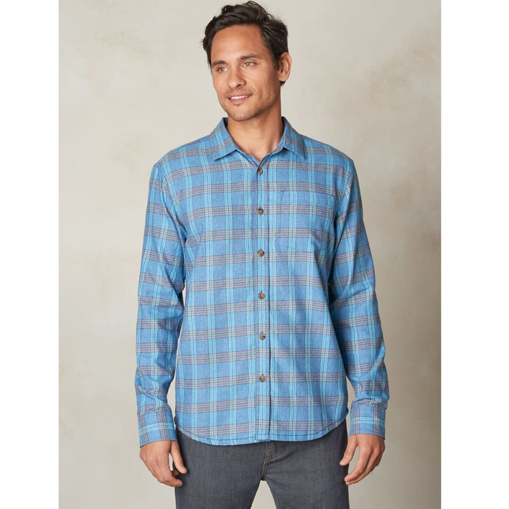 PRANA Men's Alabaster Flannel Long-Sleeve Shirt - DARK COBALT