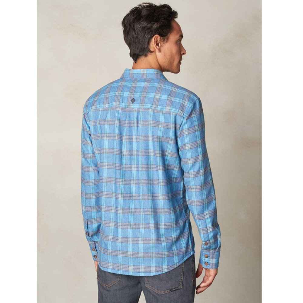 PRANA Men's Alabaster Flannel Long-Sleeve Shirt - DARK COBALT