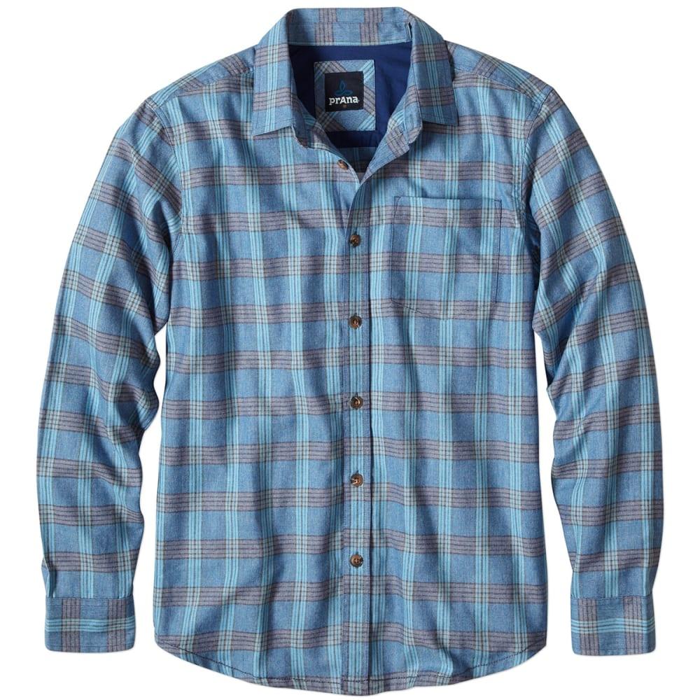 Prana men 39 s alabaster flannel long sleeve shirt eastern for Mens long sleeve flannel shirts