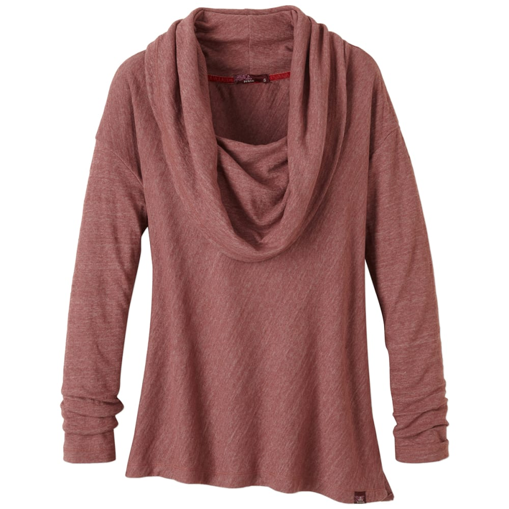 PRANA Women's Ginger Shirt - DEEP MARSALA