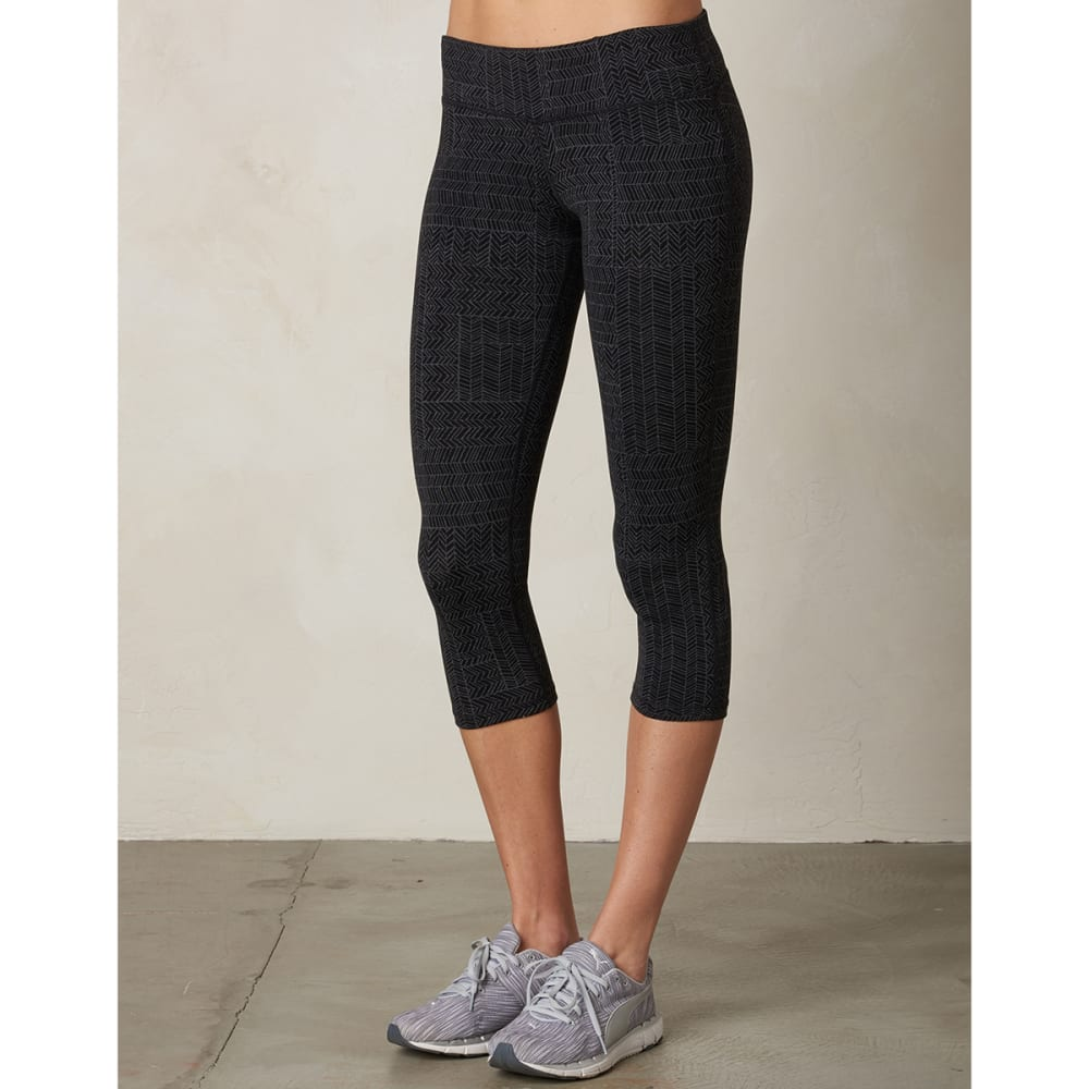 PRANA Women's Ashley Capri Leggings - BLACK GEO