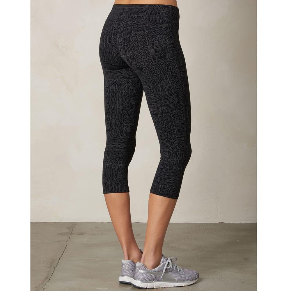 PRANA Women's Ashley Capri Leggings - BLACK GEO