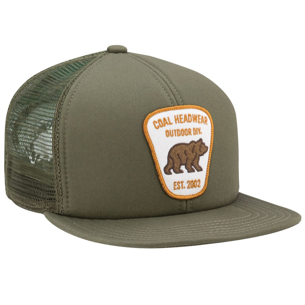 COAL Men's Bureau Trucker Cap, Olive - OLIVE