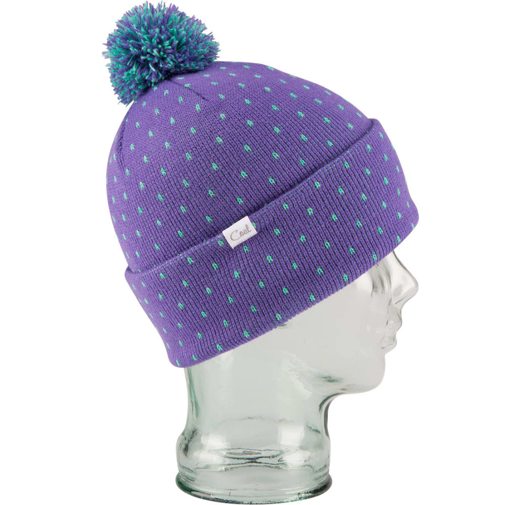 COAL Women's Dottie Pom Beanie  - PURPLE