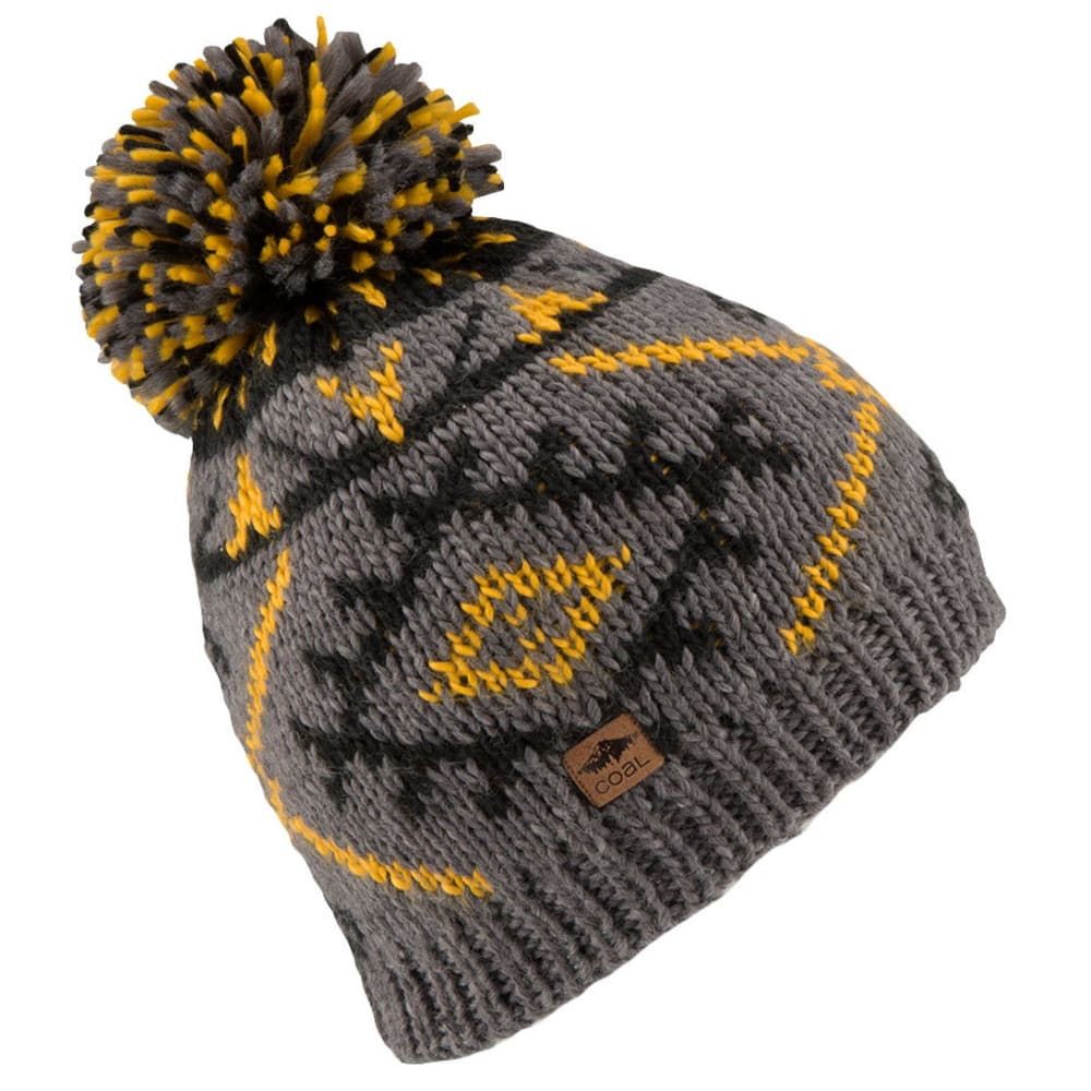 COAL The Purcell Knit Pom Beanie - CHARCOAL