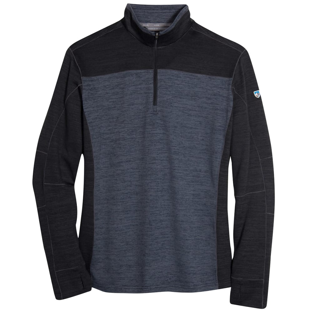 KÜHL Men's Ryzer 1/4 Zip Sweater - BKO-BLK/KOAL