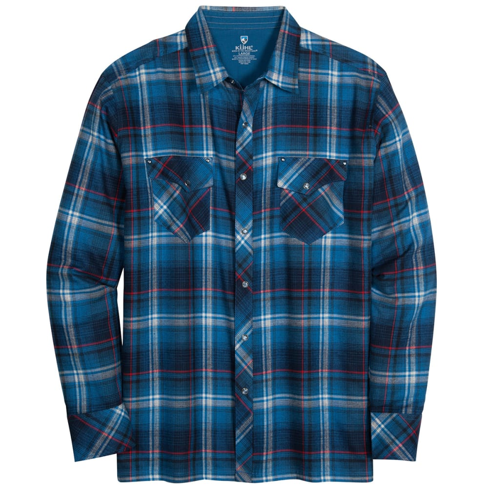 KUHL Men's Lowdown Long-Sleeve Shirt - PIRATE BLUE