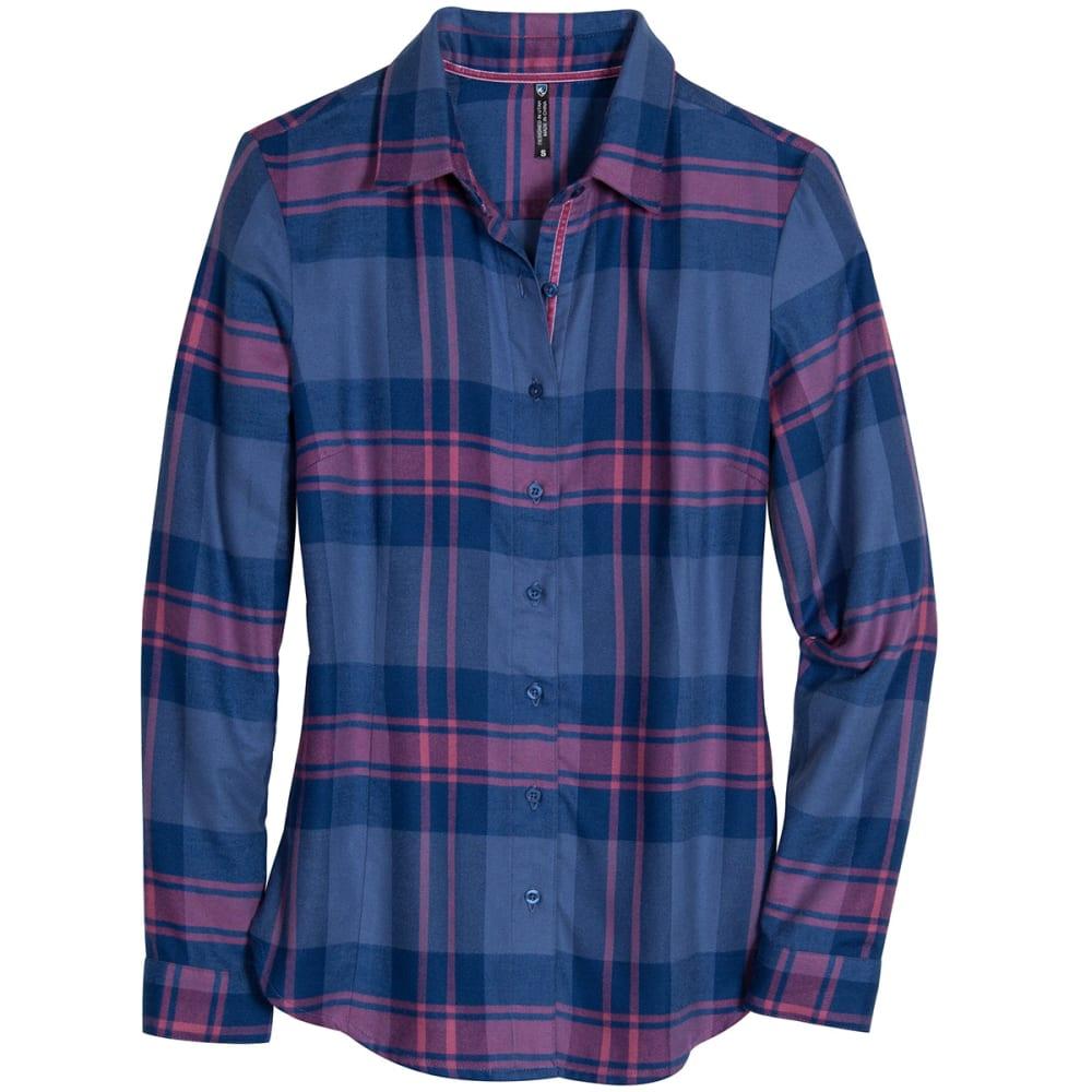 KUHL Women's Ophelia Flannel Shirt - STORM BLU